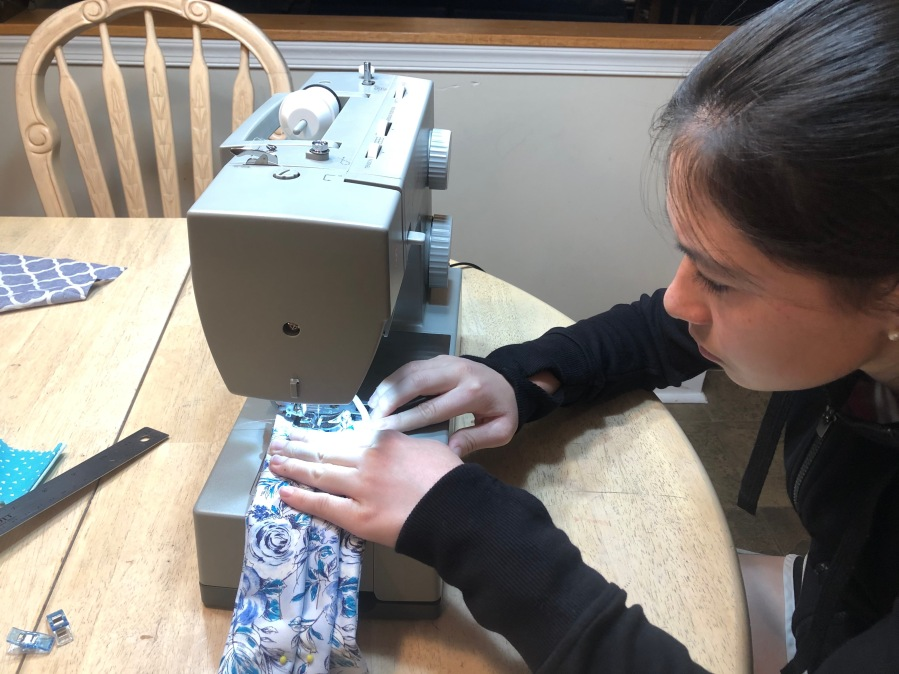 Alexandra sewing #2