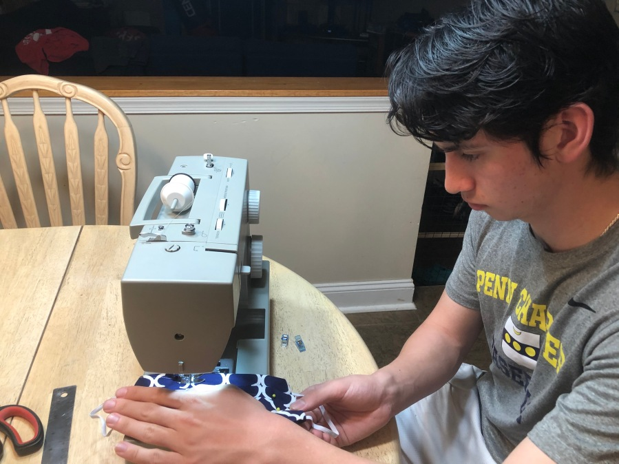 Danny sewing #2
